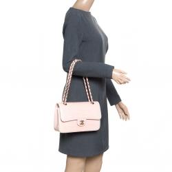 Chanel Blush Pink Crocodile Medium Classic Double Flap Bag c7b97e767c259