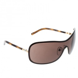 5fd3183f5c9 Chanel Gold  Brown 4170-H Collection Perle Shield Sunglasses