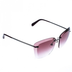 Chanel Gunmetal Tone/ Burgundy Gradient 4221 Butterfly Sunglasses