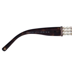 Chanel Havana Brown/ Brown Gradient 4177-H Coco Perle Shield Sunglasses