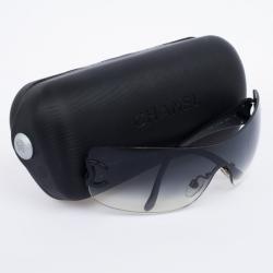 Chanel Black 4119 Rimless Shield CC Logo Women Sunglasses