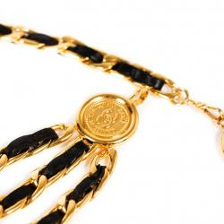 Chanel Vintage Chain-Link Medallion Belt Size 85 cm