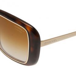 Chanel Tortoise Frame 6044 Square Sunglasses