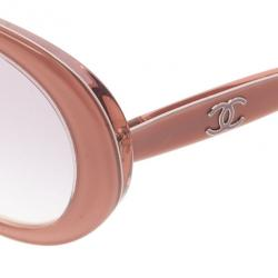 Chanel Pink Oval Sunglasses