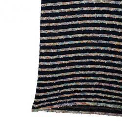 Chanel Stripe Tweed & Knit Dress S