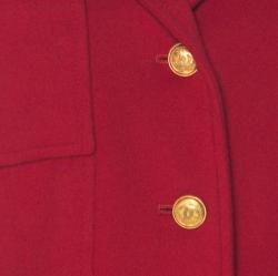 Chanel Boutique Vintage Red Cashmere Cropped Jacket M