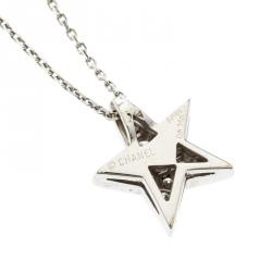 Chanel Comete 18k White Gold And Diamonds Star Necklace