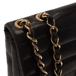 Chanel Black Vintage Horizontal Stitch Bag