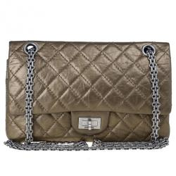 Chanel Gold Leather 2.55 Reissue 225 Shoulder Bag