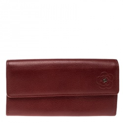 e204313ca68d Chanel Burgundy Caviar Leather CC Long Bifold Wallet. $571. Chanel Red Leather  CC Camellia Continental Flap Wallet