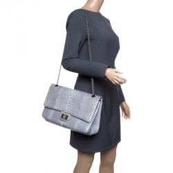 Chanel Grey Python 2.55 Reissue Double Flap Shoulder Bag 6785b7eb4a6d9