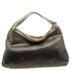 Chanel Gold/Black Leather Hollywood CC Hobo