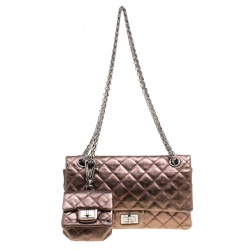 928114d73c9b28 Chanel Bronze Quilted Leather Reissue 2.55 Classic 225 Flap Bag with Coin Purse  Accessories