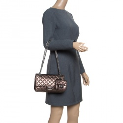 e122f0e599ae96 Chanel Bronze Quilted Leather Reissue 2.55 Classic 225 Flap Bag with Coin  Purse Accessories