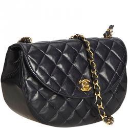 f0a2c9d55971 Chanel Dark Blue Matelasse Lambskin Leather Chain Shoulder Bag