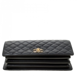 Chanel Black Leather Top Handle Flap Bag