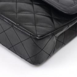 Chanel Black Quilted Leather Vintage Double Flap Bag