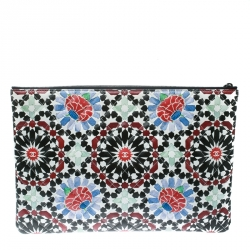 Chanel Multicolored Printed Quilted Leather Paris Dubai O Case Clutch