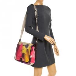 97c7316e5c0 Chanel Multicolor Nubuck Leather CC Flower Power Messenger Bag