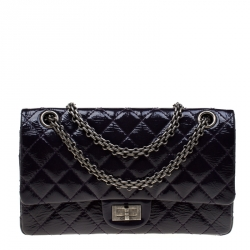 1c55828e054d Chanel Purple Quilted Patent Leather 2.55 Reissue Classic 225 Flap Bag