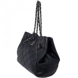 Chanel Black Bubble Quilt Flap Shoulder Bag