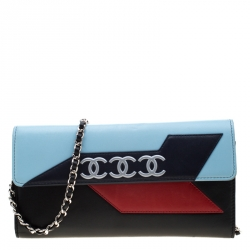 Chanel Multicolor Leather Airline Wallet On Chain