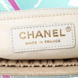 Chanel Multicolor Eiffel Tower Quilted Canvas Flap Shoulder Bag