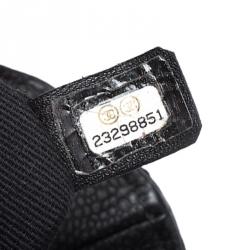 Chanel Black Quilted Leather Elegant CC Flap Bag