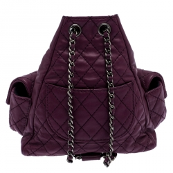 Chanel Purple Quilted Leather Mini Backpack Is Back Backpack