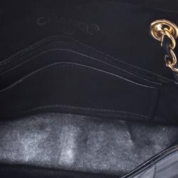 Chanel Black Quilted Satin Mini Vintage Flap Bag