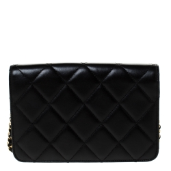 Chanel Black Quilted Leather Golden Class WOC Clutch Bag