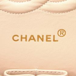 Chanel Pink Nubuck Leather Classic Small Double Flap Bag