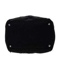 Chanel Black Jersey Small CC Bowler Bag