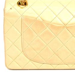 Chanel Brown Lambskin Leather Classic Small Double Flap Bag