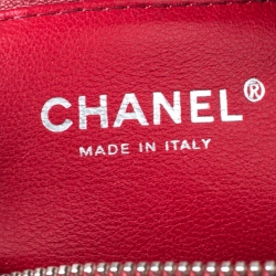 Chanel Red Quilted Leather CC Chain Bag