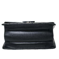 Chanel Black Quilted Leather Beauty Lock Flap Bag