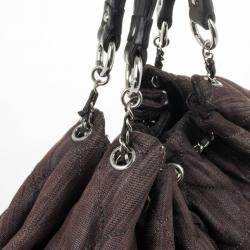 Chanel Brown Denim XL Coco Cabas Spirit Hobo Bag