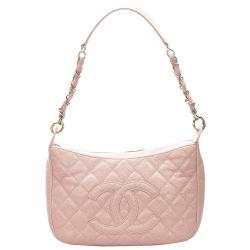 Chanel Pink Caviar Leather CC Shoulder Bag