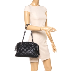 Chanel Black Quilted Leather Chain Link Bag
