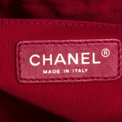 Chanel Dark Pink Quilted Leather Small Valentine Charm Single Flap Bag