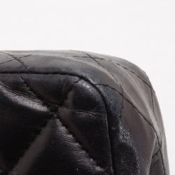 Chanel Black Quilted East West Flap Bag