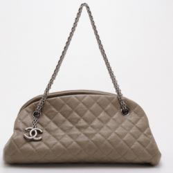 Chanel Dark Gold Caviar Leather Just Mademoiselle Bowling Bag