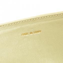 Chanel Beige Lambskin CC Flap Clutch