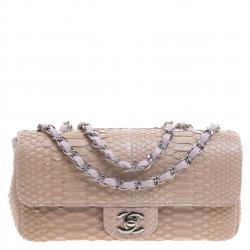 672cb91d96 Chanel Lilac Python Small Classic Single Flap Bag