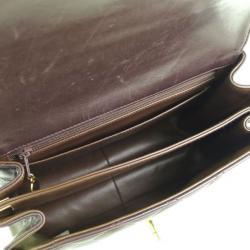 Chanel Brown Quilted Lambskin Shoulder Bag
