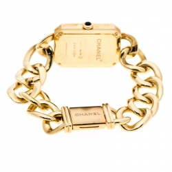 Chanel Black Diamond 18k Yellow Gold Première Chaîne Women's Wristwatch 20MM