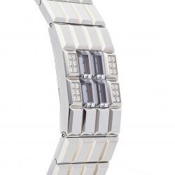 Chanel Silver Diamond Stainlesss Steel Chocolat H1340 Women's Wristwatch 24 MM