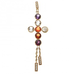 Chaumet ABC Collection Amour Multicolor Gemstone Diamond Cross Pendant