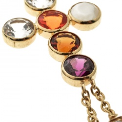 Chaumet ABC Collection Amour Multicolor Gemstone Diamond Cross Pendant