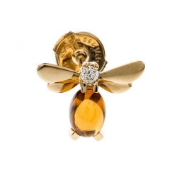 Chaumet Attrape-moi Bee Citrine Yellow Gold Stud Earring